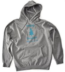 Enjoy Oregon Pullover Hoody Athletic Gray with Teal